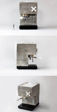Anza concrete espresso machine by Montaag