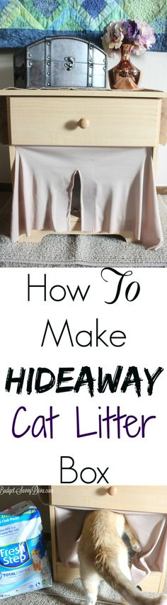 How To Make Hideaway Cat Litter Box | Budget Savvy Diva #YouGottaBeKittenMe  #ad