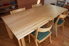 クルミ材テーブル+ナラ材TAGチェア
