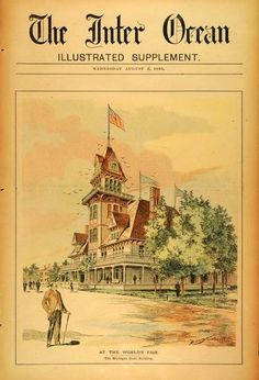 1893 Print Michigan State Building Chicago World's Fair Architecture Exposition | eBay  1893 Chicago World's Fair
