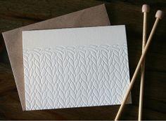 knit + letterpress = win win!
