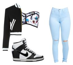 """zylenthias and i made this"" by e220012c ❤ liked on Polyvore featuring NIKE, River Island, Moschino and nofilter"
