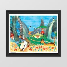 Moomin poster - Carousel Party