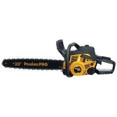 "Poulan Pro 2 Stroke Gas Powered Chain Saw With Carrying Case - Poulan Pro chainsaws provide the latest and greatest features at industry leading prices. ""Nothing cuts like a Pro"" The Poulan Pro features an effortless pu"