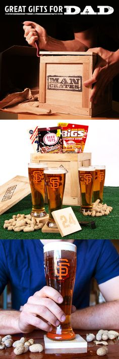 Mancrates // baseball gift box for Dad's Day! For the SF Giants fan #mancrates #baseball #FathersDay