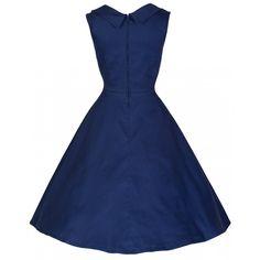 Ophelia Midnight Blue Dress   Vintage Inspired Fashion - Lindy Bop