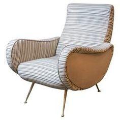Mid-Century Italian Poltrona Marco Zanuso Chair
