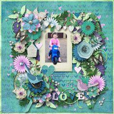 One-derful template by Heartstrings Scrap Art. Layout by Bryony. Digital Scrapbooking, Floral Wreath, Heartstrings, Templates, Create, Layouts, Home Decor, Models, Flower Crown