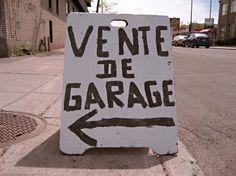 Affiche Vente de garage, Montréal