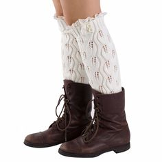 Lace Button-Up Leg Warmers in White, 46% discount @ PatPat Mom Baby Shopping App