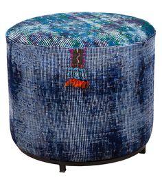 kilim pouf - abc carpet
