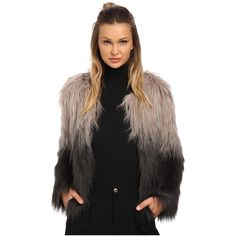 ONLY The Favorite Faux Fur Coat Women's Coat ($99) ❤ liked on Polyvore featuring outerwear, coats, imitation fur coats, fake fur coats, long sleeve coat, ombre coat and faux fur coats