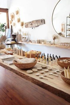 Featured Shop: Among The Flowers - Plant-based Bath and Natural Beauty Products From Among The Flowers The Effective Pictures We Offer - Boutique Decor, Boutique Interior, Showroom Interior Design, Retail Interior, Design Interiors, Esthetics Room, Eco Store, Store Interiors, Apothecary Decor