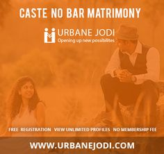 Urbane Jodi is the caste no bar matrimony, it services for all religion and community. It is a safe and secure online website to find your brides and grooms. To know more visit www.urbanejodi.com