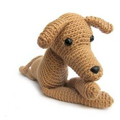 Greyhound Stuffed Animal Life Size Greyhound Dog by Amazing Greys Crochet...