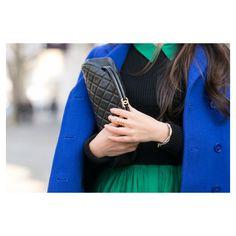 Primary Cobalt blue coat Emerald peplum