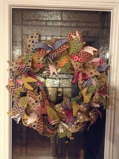Burlap wreath By: Wheat State of Mind, find it on Facebook