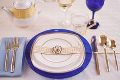 Mediterranean Inspired Wedding Table Setting {Jill Thomas Photography}