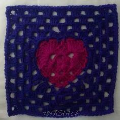 "Granny Heart Square - February's 6"" block for #BAMCAL2016 #BlockAMonth #CAL #CrochetAlong #crochet #crochetsavedmylife #crochetconcupiscence #crochetersofig #crochetersofinstagram #instacrochet #ilovecrochet #crochetobsession #stringobsession #obsessedwithstring #string #obsessedwithcrochet #CrochetAddict #StringAddict #YarnAddict #AddictedToYarn #AddictedToString #AddictedToCrochet"