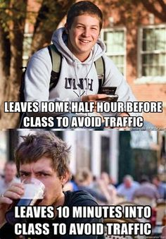 College Freshmen vs Lazy College Senior