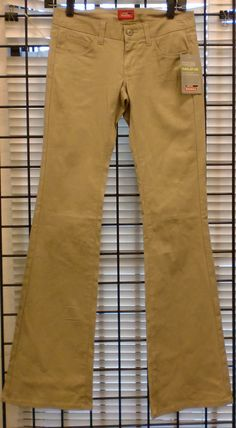 bf779a9e30 Genuine Dickies Girls Stretch Twill 5 Pocket Slim Boot Leg Pant Khaki # Dickies #Bootcut #dickies #workwear #khaki