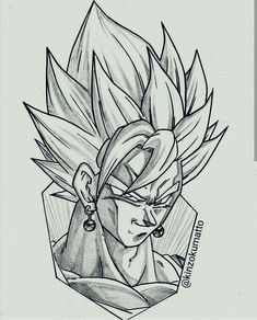 No photo description available. Dbz Drawings, Marvel Drawings, Cool Drawings, Goku Drawing, Ball Drawing, Drawing Art, Z Tattoo, Anime Tattoos, Dragon Ball Gt