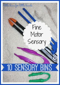 10 Fine Motor Sensory Bins