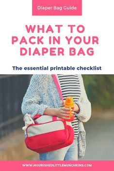 If you're packing a diaper bag for the hospital, for your newborn, or toddler, this printable PDF checklist for new moms, seasoned moms, and dads alike will give you the tips and ideas you need to make sure you don't forget anything you or your newborn might need.