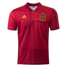 Spain Euro 2020 Home Jersey Personalized Name and Number Gender: Men's Adult Model Year: 2020 Material: Polyester Type of Brand Logo: Embroidered Type of Team Badge: Embroidered Uefa European Championship, Design Campaign, Soccer Gear, Soccer Jerseys, World Soccer Shop, Adidas Design, Black Friday 2019, Koh Tao, Shades Of Red