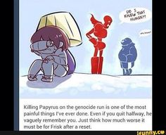 WELP I GUESS THAT SETTLES IT, NEVER PLAYING GENOCIDE RUN EVER