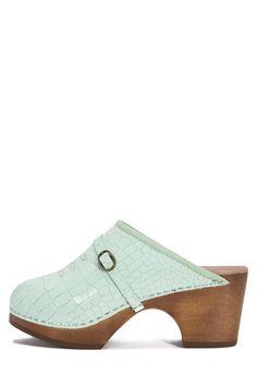 Jeffrey Campbell Shoes KATHRYN Platforms in Light Green Croco c0eb085435ef4