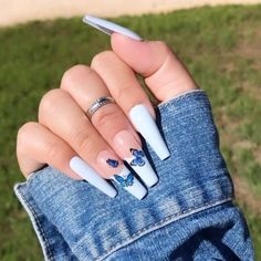 Long Square Acrylic Nails, Acrylic Nails Coffin Short, White Acrylic Nails, Glow Nails, Acylic Nails, Luxury Nails, Fire Nails, Nagel Gel, Dream Nails