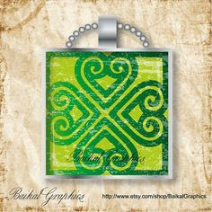 Saint Patrick's Day Shamrocks 1x1 Inch tile size by BaikalGraphics, $3.50