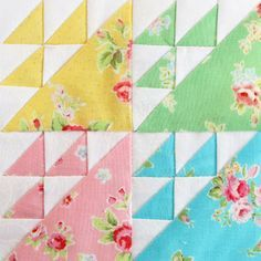 Farmer's Wife Quilt Along - Pretty by Hand - Block 7 - Birds in the Air Quilting Tutorials, Quilting Projects, Quilting Designs, Sewing Projects, Quilt Block Patterns, Pattern Blocks, Quilt Blocks, Half Square Triangle Quilts, Square Quilt