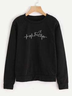 b69614586f83 Horse heart beat pullover sweatshirt