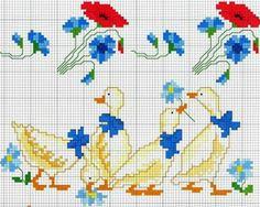 Gallery.ru / Фото #41 - 40 - ergoxeiro Stitch 2, Cross Stitch, Little Stitch, Vintage Embroidery, Farm Animals, Kids Rugs, Birds, Sewing, Painting