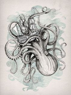 Octopus tattoo design • Visit artskillus.ru for more tattoo ideas
