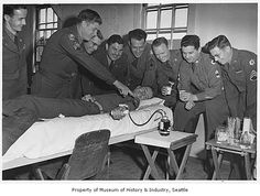 """""""Soldier giving blood at King County Blood Bank, Seattle, 1949."""" Though not through the ASBP (as it was not established until a couple of years later), this is a great picture of the impact and importance of donating blood in the military for our service men and women. Plus it's just begging for an alternative caption. Have at it!"""
