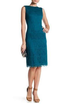 Back Zip Scalloped Lace Dress by Sharagano on @HauteLook