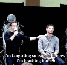 Jensen Ackles Richard Speight Jr, Jared Padalecki / RSJ is literally every fangirl out there and I love it