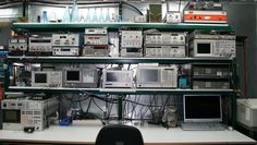Electronics test and development bench.