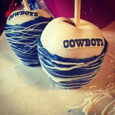 Dallas cowboys apples!                                                       …                                                                                                                                                                                 More Dallas Cowboys Wedding, Dallas Cowboys Party, Dallas Cowboys Women, Cowboy Theme Party, Cowboy Birthday Party, Chocolate Apples, Chocolate Covered, Cowboy Food, Cowboy Cakes