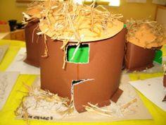 afrikaanse hut knutselen African Hut, Africa Craft, Sierra Leone, South Africa, Crafts For Kids, Food, Tarzan, Ghana, School