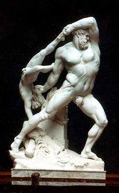 """""""Hércules e Licas"""". (by Antonio Canova)."""