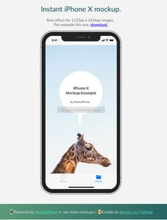 Hot new product on Product Hunt: Instant iPhone X Mockup
