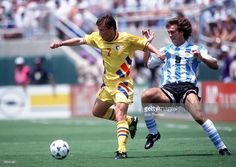 World's Best Romania Vs Argentina In 1994 Stock Pictures, Photos, and Images - Getty Images Stock Pictures, Stock Photos, Bbc Broadcast, Football Soccer, Image Collection, Fifa, World Cup, Garra, Romania