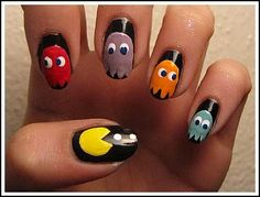 raiders nail designs | nail a pm email thisdec out there pac man is not for all nails ...