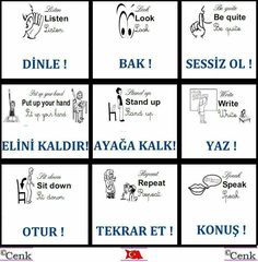 This Pin was discovered by Nin English Words, English Lessons, Learn English, Learn Turkish Language, Learn A New Language, Education English, Teaching English, Vocabulary Journal, Turkish Lessons