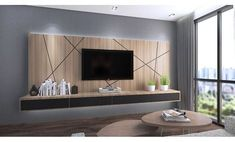 TV console with feature wall. Order this console at You can find Tv wall units and more on our website.TV console with feature wall. Order this console at Living Room Tv Unit Designs, Ceiling Design Living Room, Tv Wall Design, Tv Wall Unit Designs, Bedroom Tv Unit Design, Tv Console Design, Modern Tv Unit Designs, Modern Design, Living Room Modern