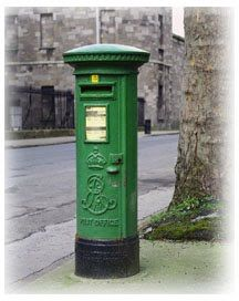 british mailboxes | Above, an Irish mailbox, below, a couple of books in the mail this ...